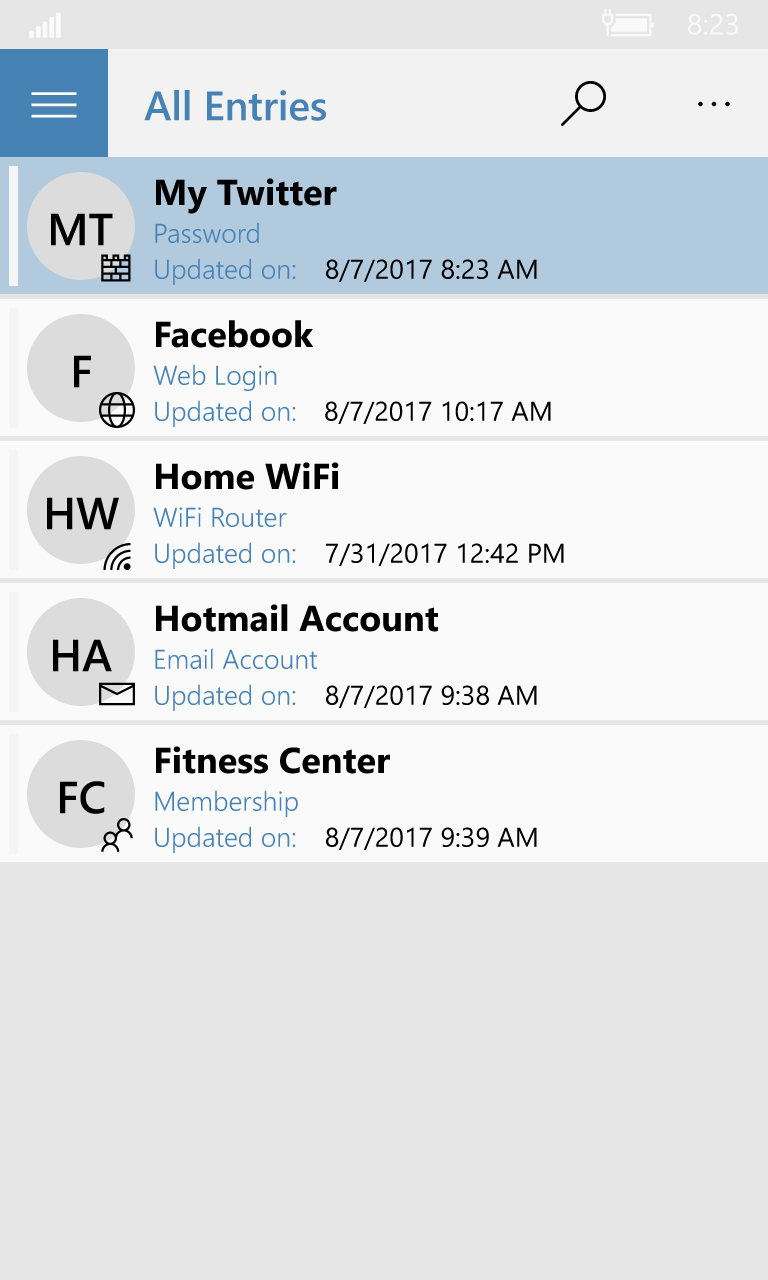 #1 Password Manager Mobile Screenshot